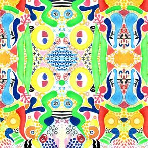 bright dreams watercolour abstract