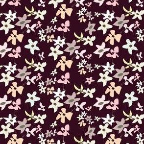Burgundy Mini Floral