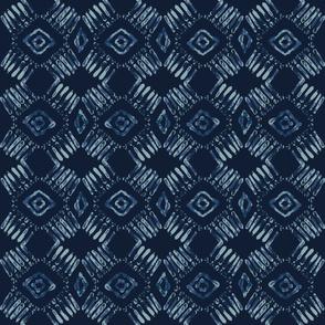 Indigo Tie Dye Batik Seamless Vector Pattern