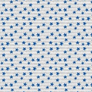 (micro scale) stars and stripes - blue on light grey - LAD19BS