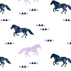 Wild horses // purple and navy distressed C19BS