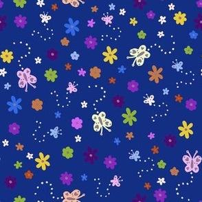 Ditsy Butterflies & Flowers