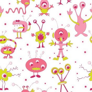 Aliens, Pink and Green