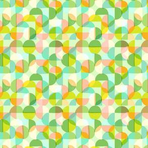 geometric pastel circles green
