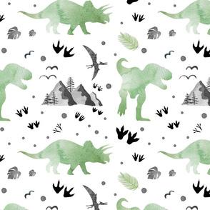 Let's Be Dinosaurs - Watercolor Medium