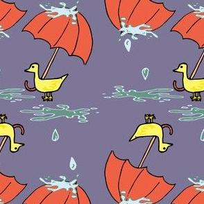 Ducks in the Rain