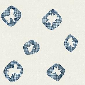 hachure shibori spot blue