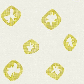 hachure shibori spot chartreuse