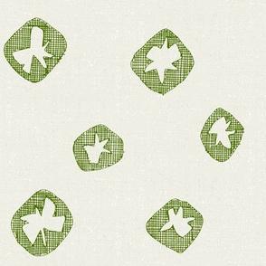 hachure shibori spot green