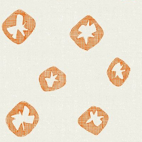 hachure shibori spot orange