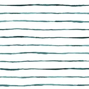 wobbly thin stripe teal