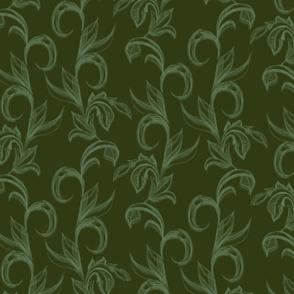 Cersei green fabric02