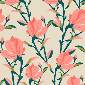 magnolia-dusty pink