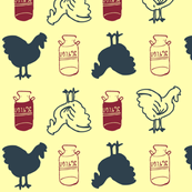 Chickens and Milk Jugs
