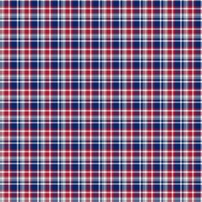 The Blue Red and Grey: Little Plaid with White