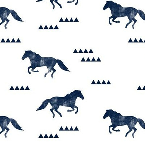 Wild horses // navy distressed C19BS