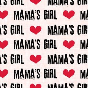 """(3/4"""" scale) Mama's Girl - valentines day fabric - pink - C19BS"""