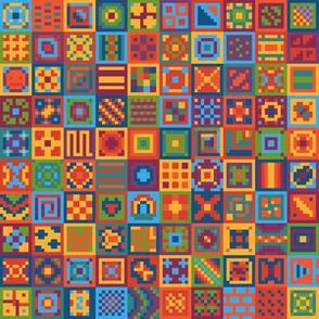 Ultimate Basic Digital Rainbow Quilt