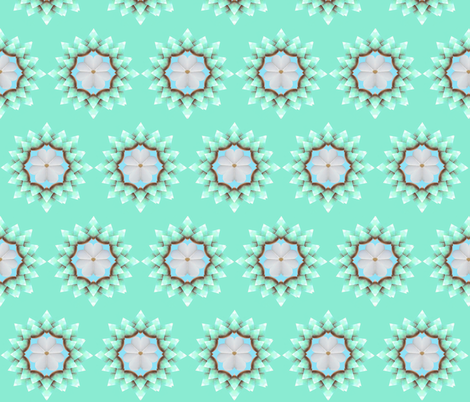 White Pearl Daisy on Seafoam Green fabric by fabric_is_my_name on Spoonflower - custom fabric