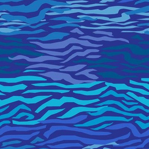 Abstract Waves in Tonal Blue