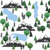 mountain terrain w