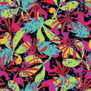 Abstract tropical leaves