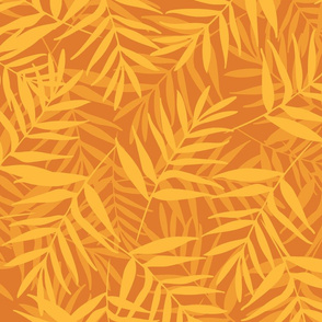 Yellow tropical leaves