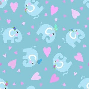 Elephants & Pink Hearts