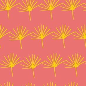 orange yellow jungle fern leave seamless pattern design background.