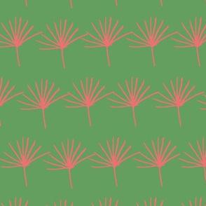 green red jungle fern leave seamless pattern design background.