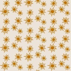 sun sunflower - small scale light tan background