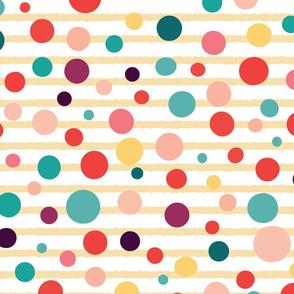 Polka dots on stripes