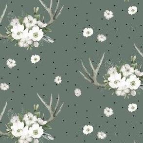 "4"" Rustic Lodge Florals // Corduroy Green"