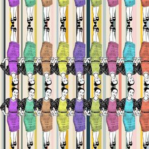 Pop Art! Girl Power (On trend stripes)