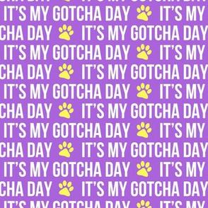 It's my gotcha day - purple and yellow - LAD19
