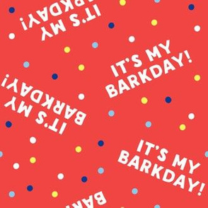 It's my barkday! - red - LAD19