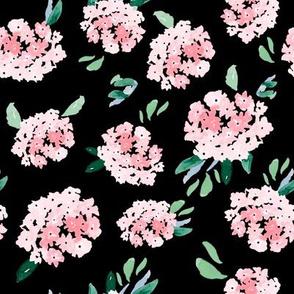 "8"" Free Falling Pink Bouquet Black"