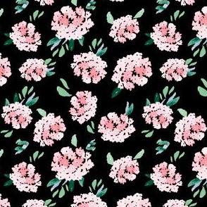 "4"" Free Falling Pink Bouquet Black"