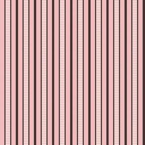 Victorian Stripe_Pink-Brown by Paducaru