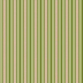Victorian Stripe_Pink-Green by Paducaru
