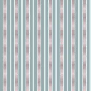 Victorian Stripe_Blue-Pink by Paducaru