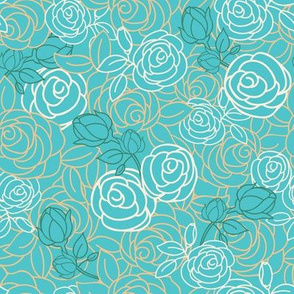 Teal Garden Floral Bouquet