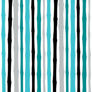 cre8tvdeb Teal Bamboo Abstract