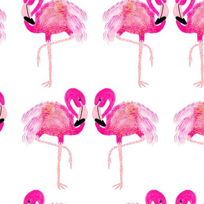 "Go-go flamingo - large (approx 8"")"