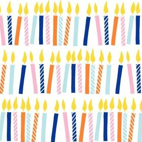 candles - birthday - celebration - blue, pink, baby blue - LAD19