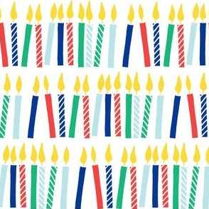 candles - birthday - celebration - red, green, blue - LAD19