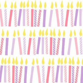 candles - birthday - celebration - pink and purple - LAD19