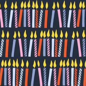 candles - birthday - celebration - dark blue - LAD19