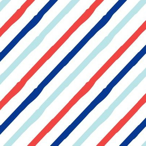 Stripes - Red, dark blue, and blue - LAD19
