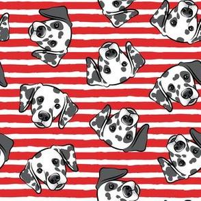 Dalmatians - red stripes - LAD19